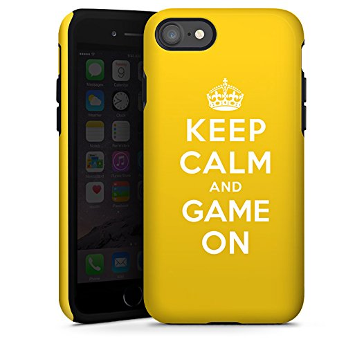 Apple iPhone X Silikon Hülle Case Schutzhülle Keep Calm Gaming Statements Tough Case glänzend