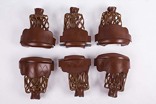 Standard-höhe Cherry (TGA Sports Pool-Tischtaschen-Set aus PU-Leder für Billardtisch, strapazierfähig, 6 Stück, Cherry)
