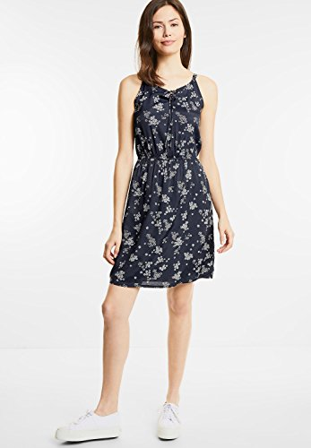 Street One Damen Kleid mit Blütenprint Posy Blau (Night Blue)
