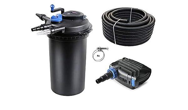 DREAMADE Filtro a Pressione per laghetto 12000L Depuratore per stagni con UVC 13 W