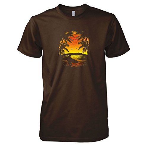 TEXLAB - Surfing at Sunset - Herren T-Shirt Braun