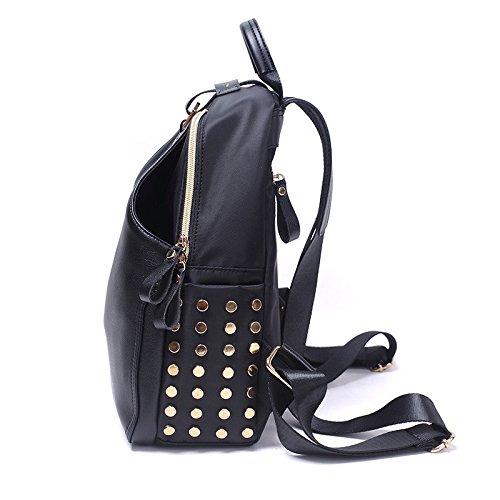 Mefly Donna zaino borse moda nero a campana Large black
