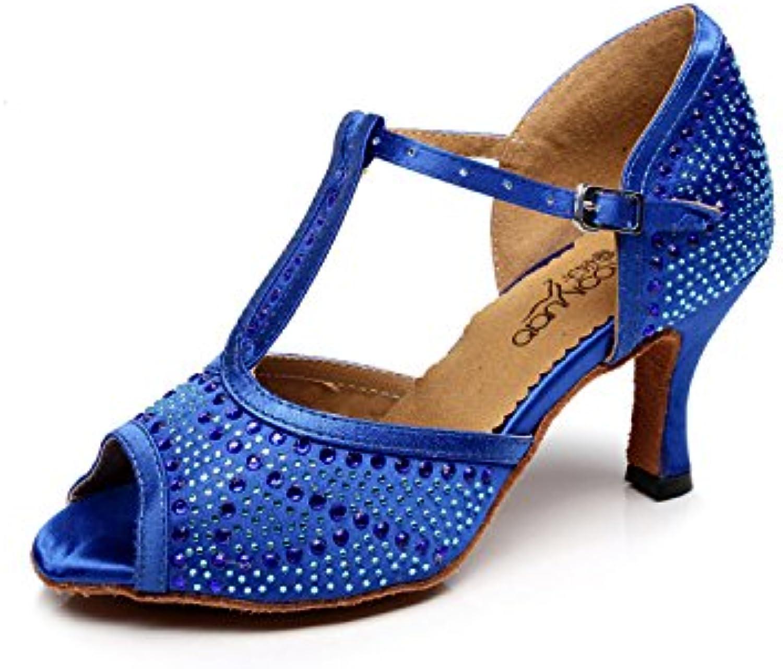 JSHOE Scarpe di danza per donne latino T-Strap Scarpe di Parent danza Salsa/Tango/ChaCha/Samba/Moderno/Jazz danza sandali... Parent di 82958a