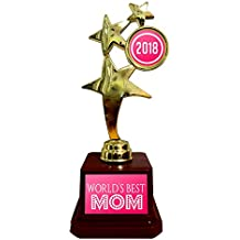 Yaya Cafe Mothers Day Gifts Worlds Best Mom Trophy 2018 Golden Star for Mom