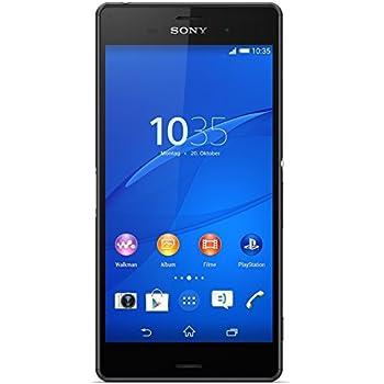 "Sony Xperia Z3 - Smartphone Android de 5.2"" (Full HD 1920 x 1080 p, Qualcomm Snapdragon 2.5 GHz, cámara de 20.7 MP), color negro"