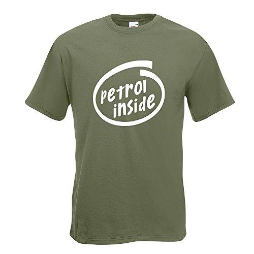 KIWISTAR - petrol inside Auto T-Shirt in 15 verschiedenen Farben - Herren Funshirt bedruckt Design Sprüche Spruch Motive Oberteil Baumwolle Print Größe S M L XL XXL Olive