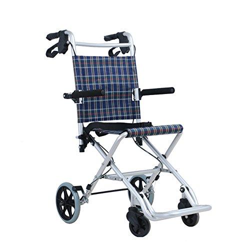 XYLUCKY Faltbarer Tragbarer Trolley - Aluminium 4 Rad Medical Swivel mit Sitz und Doppelbremse - Mobilitätshilfe Für Erwachsene, Senioren, Senioren und Menschen mit Behinderungen (Drive Medical Vier)