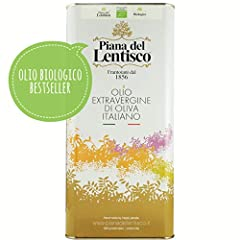 Idea Regalo - 5 litri - Olio extravergine di oliva BIOLOGICO monovarietale LECCINO raccolto 2018 - 100% italiano olio evo bio fruttato gusto DELICATO