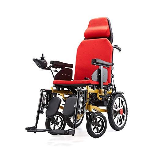 CHEZI wheelchairAluminiumrollstuhl, Schwerlasttransit-Reisetransport RAK Rollstuhl mit Handbremsen und Ultra Wide 22
