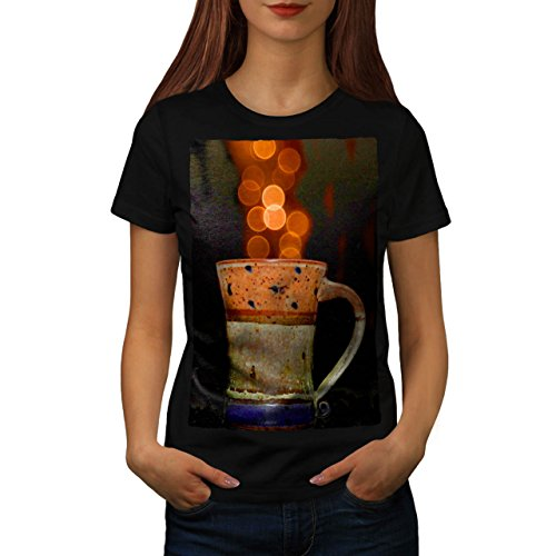 stylish-cup-of-tea-color-bubbles-women-new-black-m-t-shirt-wellcoda