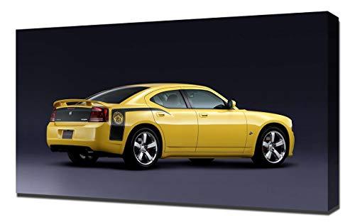 Lilarama 2007-Dodge-Charger-SRT8-Super-Bee-V2-1080 - Art Leinwandbild - Kunstdrucke - Gemälde Wandbilder (Charger Srt8 2007 Dodge)