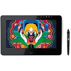 """Wacom Cintiq Pro 13"""" - Ecran interactif - Tablette graphique à stylet (13 pouces, avec écran et pieds) - Stylet Wacom Pro Pen 2 et adaptateur Link Plus inclus - Compatible avec Windows et Apple"""