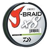 Daiwa J-braid 300m 8-strand tissé rond Braid Ligne, mixte, Chartreuse