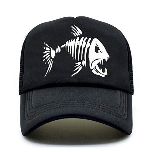 MAOZIJIE Fishbone Trucker Cap Männer Angeln Skeleton Fish Bone Cap Hiphop Baseballmützen Sommer Fisher Man Mesh Caps Hut Für Männer -