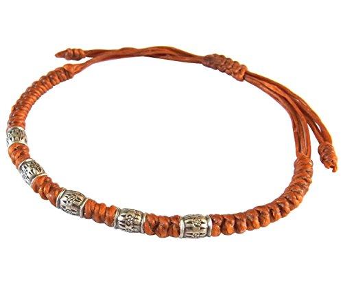 lun-na-asiatique-100-fait-main-perles-de-argent-925-bracelet-orange-ficelle-de-cire