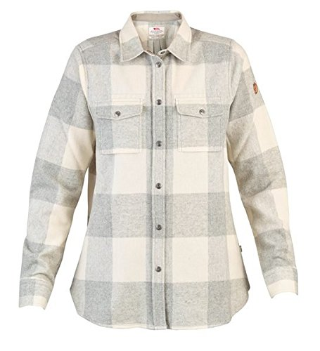 Fjällräven Damen Flanell Shirt Canada LS 90835 Fog- Chalk White XL (Flanell Shirt Wolle)