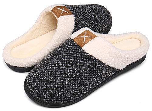 Mishansha Zapatillas Invierno Mujer Memory Foam Casa Zapatos Antideslizante Caliente Pantuflas Casa...