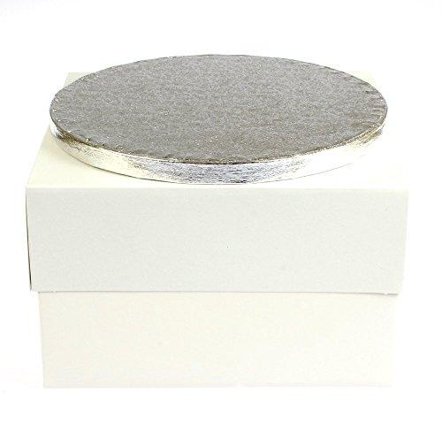 5,1 x 40,6 cm x 40,6 x 15,2 cm pouces blanc Boîte à gâteau & 40,6 cm Tambour à Gâteau Rond