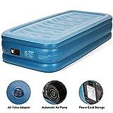 MARNUR Luftbett Luftmatratze Selbstaufblasend Airbed Einzelbett Twin Size-190x99x45cm Gästebett mit eingebauter elektrischer Pumpe, Aufbewahrungstasche und Reparaturflicken