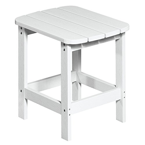 NEG Design Adirondack Tisch MARCY (weiß) Westport-Table/Beistelltisch aus Polywood-Kunststoff...