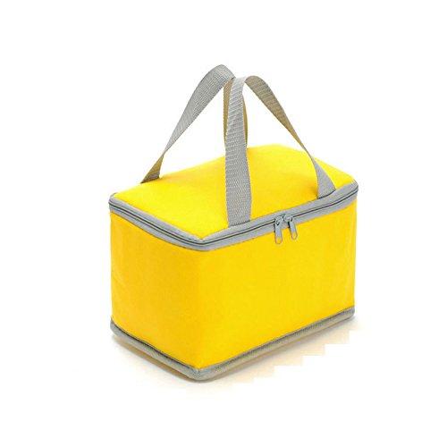 tragbare isolierte mittagessen tasche nicht aus thermischen essen nehmen picknick cooler bag sac dejeuner süßigkeiten farbe für kinder, frauen zitrone
