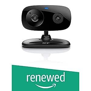 (Renewed) Motorola Focus 66 Wi-Fi HD Audio and Video Home Monitoring Camera (Black)