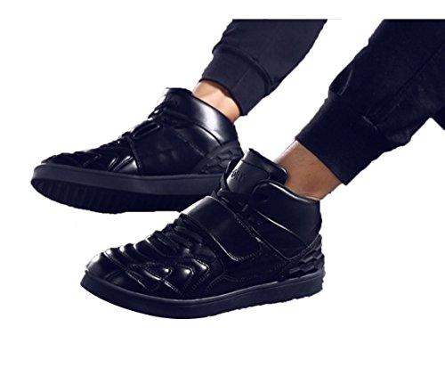 WZG Un nouvel éclairage classique deux chaussures étudiants étape fantôme chaussures de danse lumineux chaussures hommes chaussures hommes occasionnels flash chaussures Black