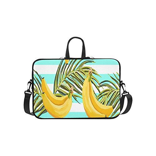 Schöne Hand gezeichnete Tropische Palmen-Aktenkoffer-Laptoptasche-Kurier-Schulter-Arbeitstasche Crossbody-Handtasche für das Geschäftsreisen (Maca Obst)