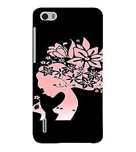 PrintVisa Girly Pink Flower Design 3D Hard Polycarbonate Designer Back Case Cover for Huawei Honor 6