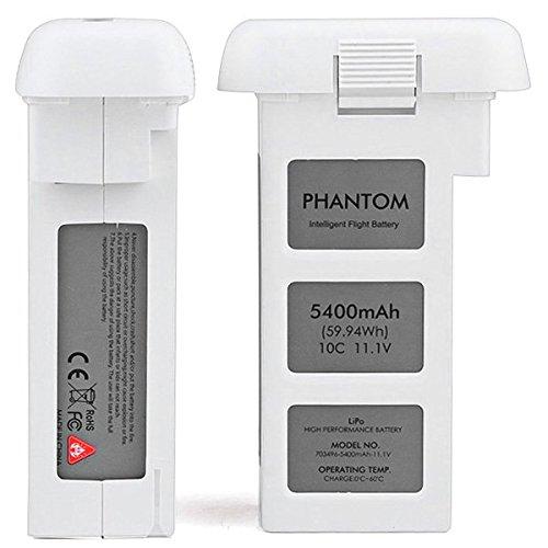 Batterie intelligente améliorée LiPo 11.1V 5400mAh 59.94Wh 10C pour drones DJI Phantom 2 / Vision / Vision