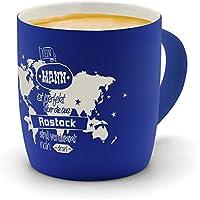 Kaffeetasse Kaffeebecher Becher Maritim Mit Anker Und Spruch Ahoi Rostock Ts418 Kindergeschirr & -besteck