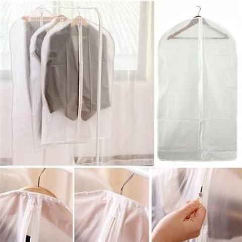 In PEVA trasparente, lavabile, pieghevole, adatta per abiti,-Borsa porta abiti