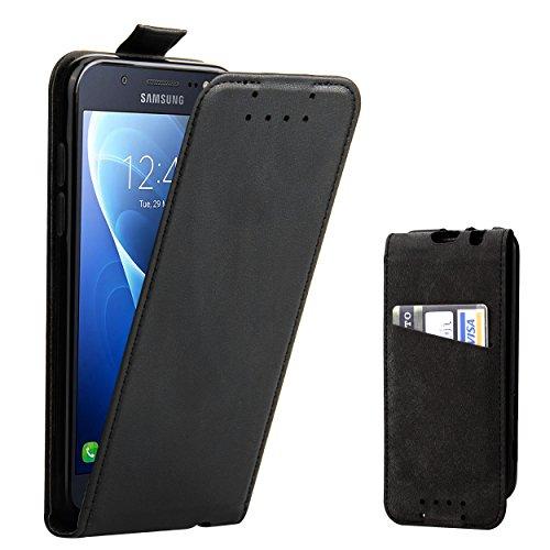 Galleria fotografica Custodia Galaxy J5 2016 - SUPAD® Ultra sottile Custodia Flip Case In Pelle per Samsung Galaxy J5 2016 (Nero)