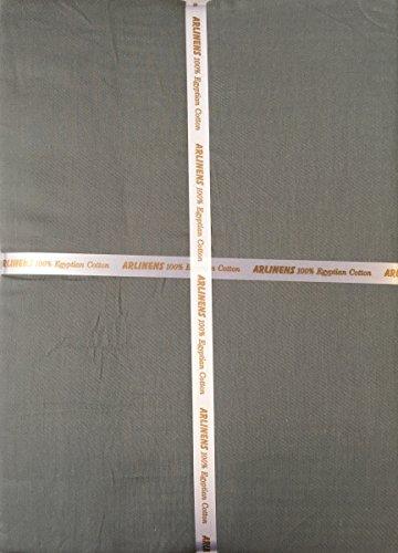 ARLINENS Luxuriöse T300100% gekämmte ägyptische Baumwolle Satin Bettbezug mit Kissenbezügen Betten Set Farbe grau Größe Double