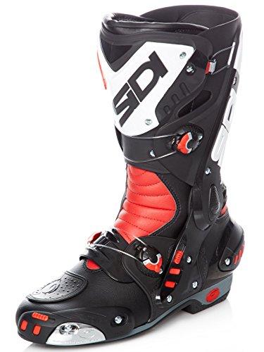 Sidi Motorradstiefel Vortice Schwarz-Rot-Weiß (41 Eu/7.5 Us, Rot)