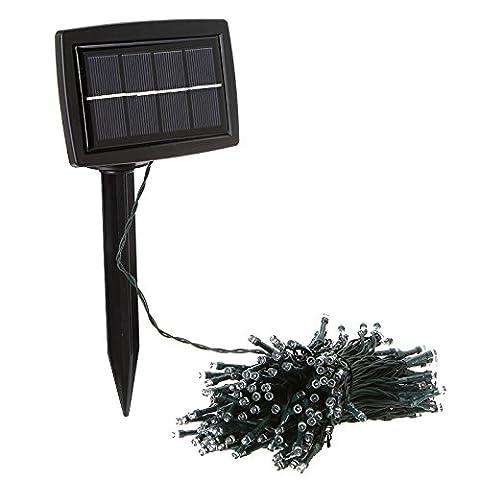 Solar Power Lamp - SODIAL (R)Solar Power 200 Lumiere LED Fee Pour Xmas Garden Party de mariage Decoration Lampe jaune