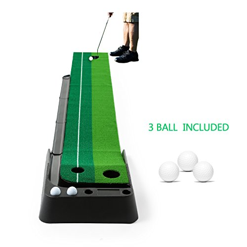 Golf Putting Mat,JBSON Intérieur Golf Training Mat Putting Green Systeme Professionnel Golf...