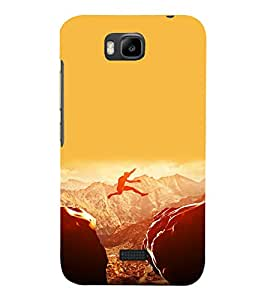 printtech Amazing Jump Sports Back Case Cover for Huawei Y5c