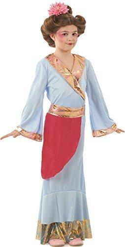 ientalische Blau Prinzessin Geisha Rund Um die Welttag des buches-Tage-Woche Chinesisches Neujahr Kostüm Kleid Outfit 4-12 Jahre - Blau, 8-10 years (Geisha Outfits)