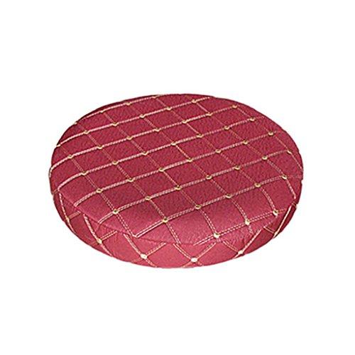 sgerste 11–14Grid Bar Hocker Stillkissen, rund Stuhl, Sitz Kissen Sleeve –, atmungsaktiv, rutschsicher, komfortabel, Schmutzfeste–Beige, wie beschrieben weinrot (Hocker 14)