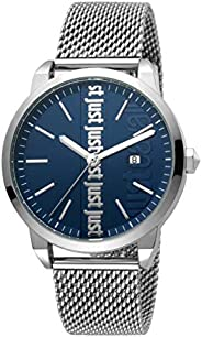 Just Cavalli Modern Blue Dial Stainless Steel Analog Watch For Men