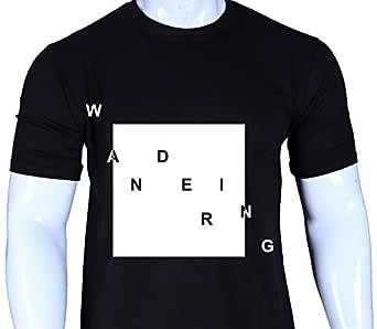 Spiffy Ape Men's Cotton Round Neck Half Sleeve Solid T-Shirts Wandering