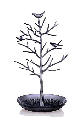 DoubleBlack Schmuck Organizer Vögel Baum für Schmuck Ohrring Halsketten Halter Schmuckständer zur Aufbewahrung