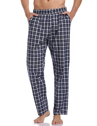 Hawiton Pantalones Pijama Hombre Algodón Largo Pantalones