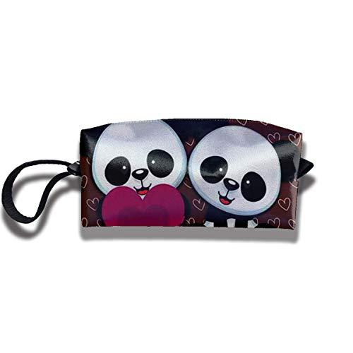 Borsa per matita Borsa per trucco Panda Bear Wallpaper Borsa per cosmetici da donna Borsa per organizer con cerniera durevole multifunzio