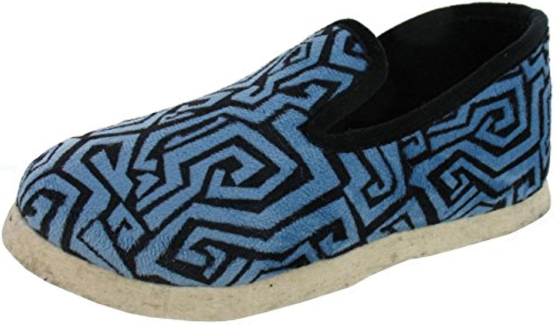 WAPITI'TOO - Zapatillas de Estar Por Casa de Terciopelo Mujer