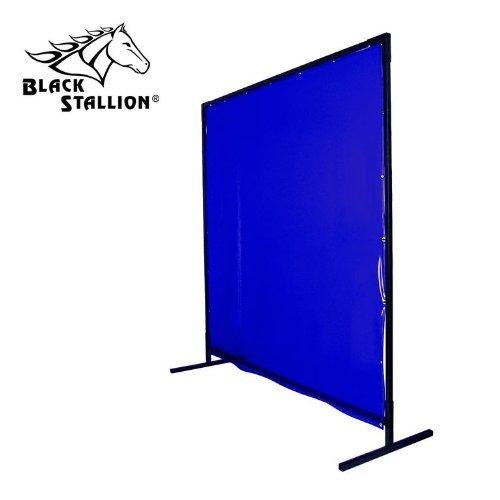 Revco 6X8VF1-BLU 6'X8' 14 mil. 1 Panel Blue Saf-Vu Welding Screen with Frame by Revco