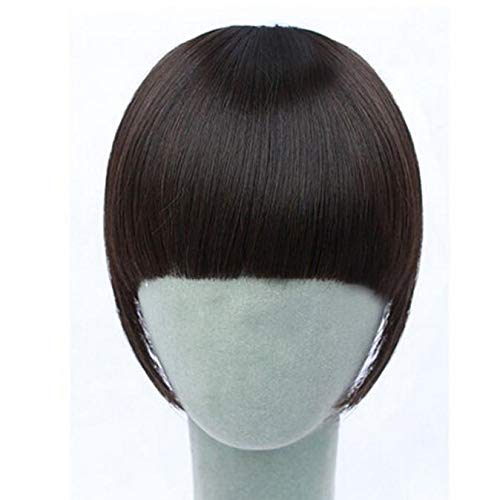 Makefortune 2019 Damen Perücke, Beauty Pretty Girls Clip On Clip In Front Hair Bang Fringe Hair Extension Piece Thin Frauen Make up CLH-Farbe knallt Mädchen Pflegesets