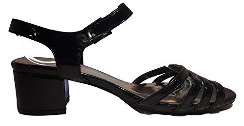 Talons hauts, Stiletto Pumps High Heels sandales, très sexy, bleu, orange, rosé, noir, blanc, pink, beige, gris, violet, rouge, serpents look, liège, glossy, modèle 11064105012035, escarpins. Schwarz.