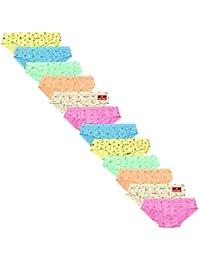 Pride Apparel Ladies Panties 100% Cotton Panties (Multicolored)-Pack of 12